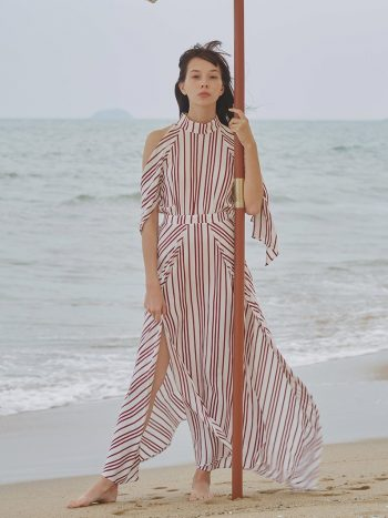 Bohemian Striped Maxi Dress