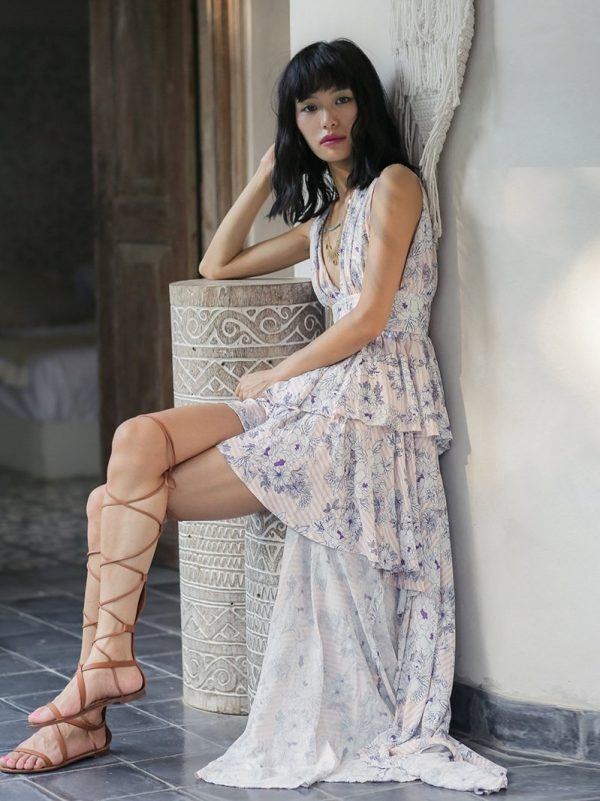 Asymmetrical Resort Style Dress