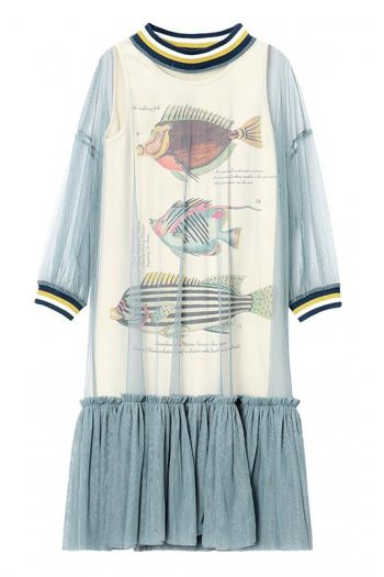 Fish Printed Two-Piece Dress