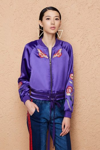 Butterfly Embroidered Jacket