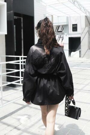 Back Embroidered Trench Coat