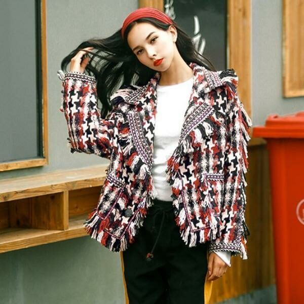 Plaid Woolen Jacket