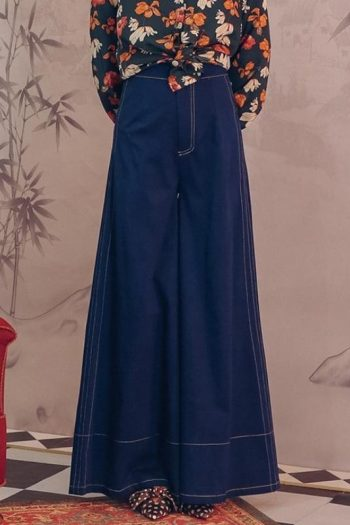 Retro Style Wide Leg Pants