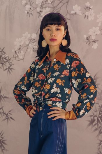 Contrast Floral Printed Shirt