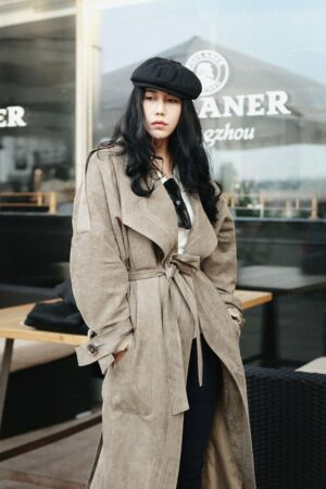 Gray Velvet Long Jacket