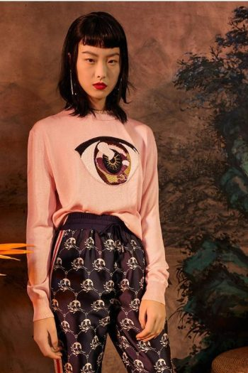 Eye Printed Wool Sweater
