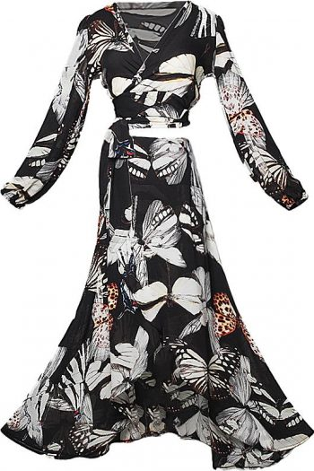 Butterfly Paradise Two-Piece Dress